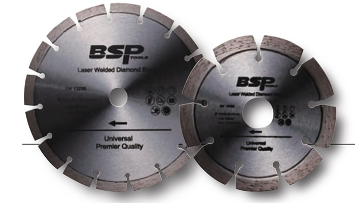 Laser welded diamond cutting disc